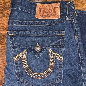 EUC True Religion Jeans. Size 36/34. No holes, etc